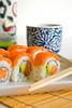 Double Salmon Sushi with Sake