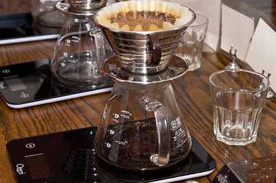 The pour-over setup.  Quite beautiful.