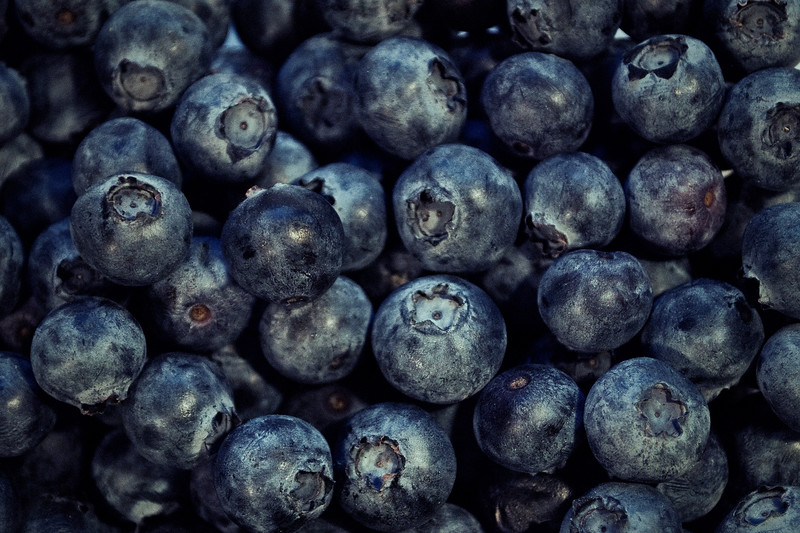 Bunch of blueberries.