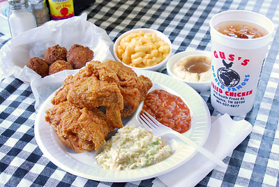Chicken plate and sides from Gus's World Famous Fried Chicken in Collierville, TN. Photo by Jason R. Terrell.