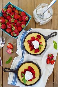 Strawberry Skillet Cornmeal Cakes