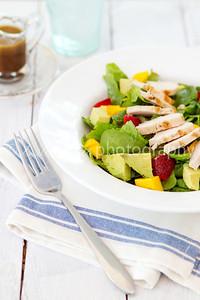 Strawberry, Mango and Avocado Salad with Honey Balsamic Vinaigrette