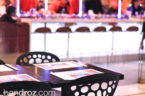 """YO Sushi brings modern Tokyo to Washington, DC in a brand new location in Union Station.  The sushi conveyor-belt restaurantoffers game-changing service, such as a a triple filtered water tap at your table and a """"help-button""""."""