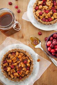 Apple Cranberry Caramel Tarts