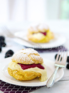 Lemon Blackberry Cream Puffs with Dairy-Free Pastry Cream