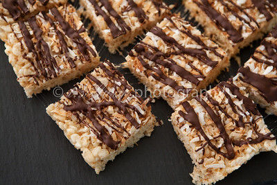 Coconut rice krispie treats