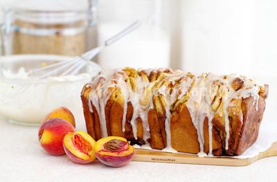 Peach, Cinnamon & Brown Butter Pull-Apart Bread
