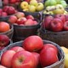 USA-Sperryville-VA-A variety of apples for sale at a roadside stand