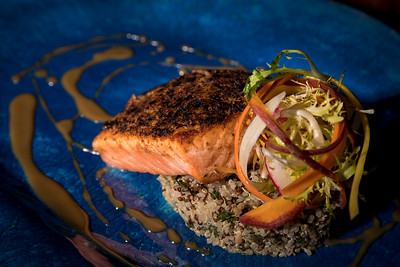 Pecan Dried Black Cherry Crusted Scottish Salmon