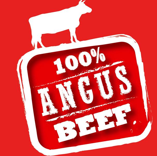 Angus Beef 100% tempel-signage