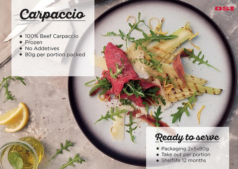 Beef Carpaccio Foodworks OSI