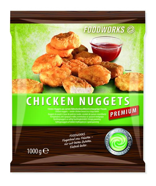 Kananagitsad (eelküpsetatud) 22 g, 12 pakki x 1 kg<br /> Chicken nuggets 1000 g, pre-cooked!