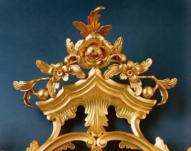 Rococo mirror detail