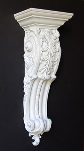 Architectural carved bracket 20""
