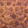 Inlaid wood ceiling