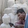 Carving Buddhas
