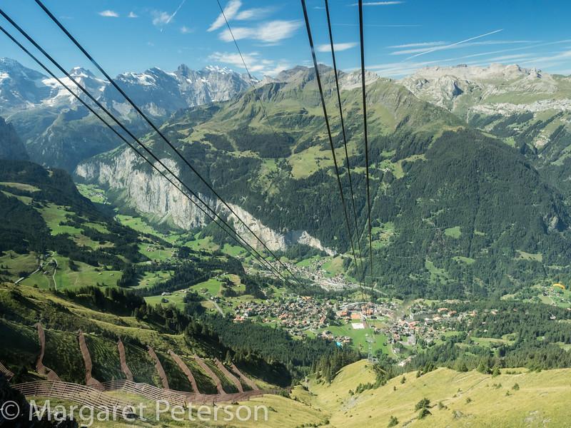 Gondola down to Stechelberg