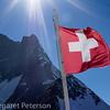 Swiss flag & Jungfrau peak