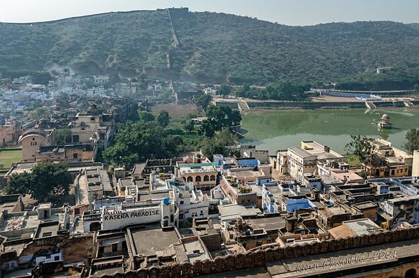 View of Bundi/our haveli from Taragarh Fort