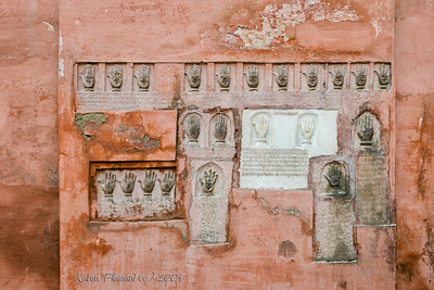 Junagarh Fort - hand prints of 41 women who committed suicide