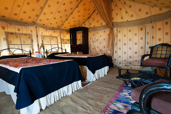 Our tent, Sam Dunes, Thar Desert