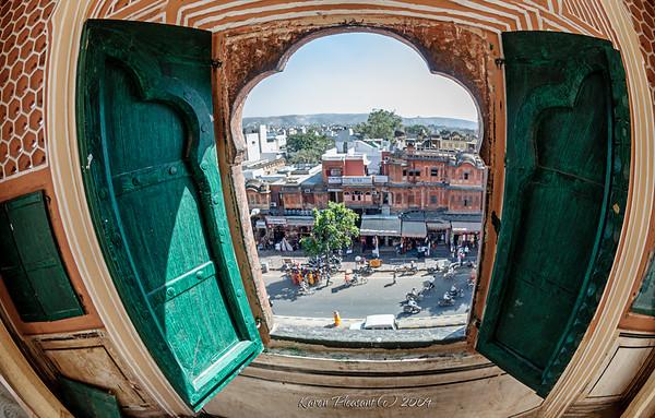 Jaipur - Hawa Mahal-princess's view