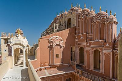 Jaipur - Hawa Mahal - rear view
