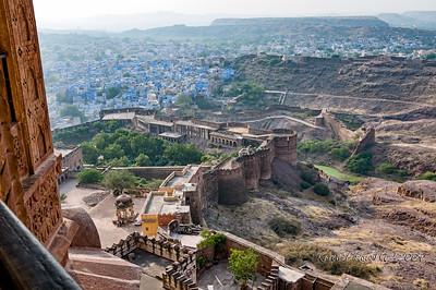 Walls of Mehrangarh Fort