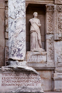 Sofia (symbolizing Wisdom), Library of Celsus,