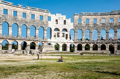 Magnificent Roman amphitheatre in Pula