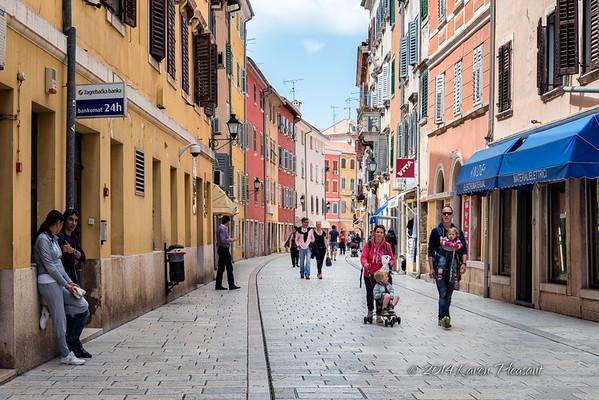 Cobblestone street of Rovinj