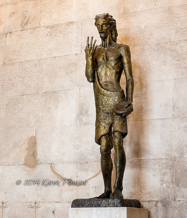 Statue of St. John in Jupiter's Temple