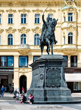 Ban Jelalcic statue