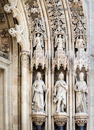 Entrance statues - right. Zagreb