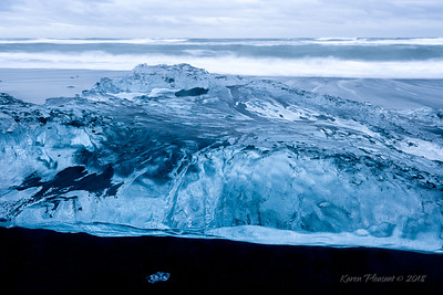 Glacial Ice on Diamond Beach