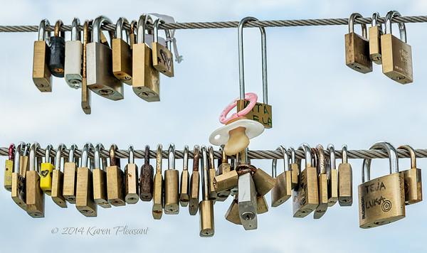 Love Locks, Ljubljana, Slovenia
