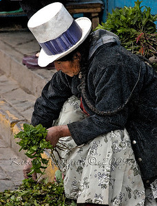 Fresh market vendor, Cuzco, Peru