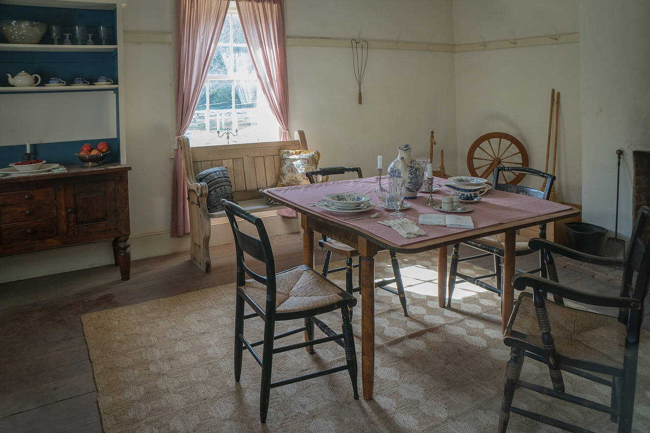 The dining room in the Commander's Quarters
