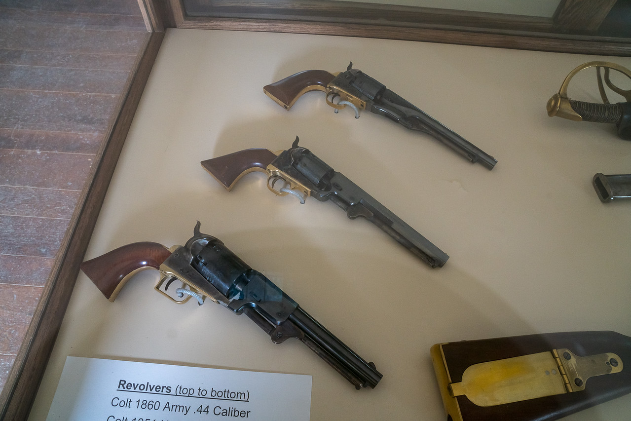 Colt Revolvers, from the top: Colt .44,  Colt .36, and Colt 2nd Model Dragoon .44