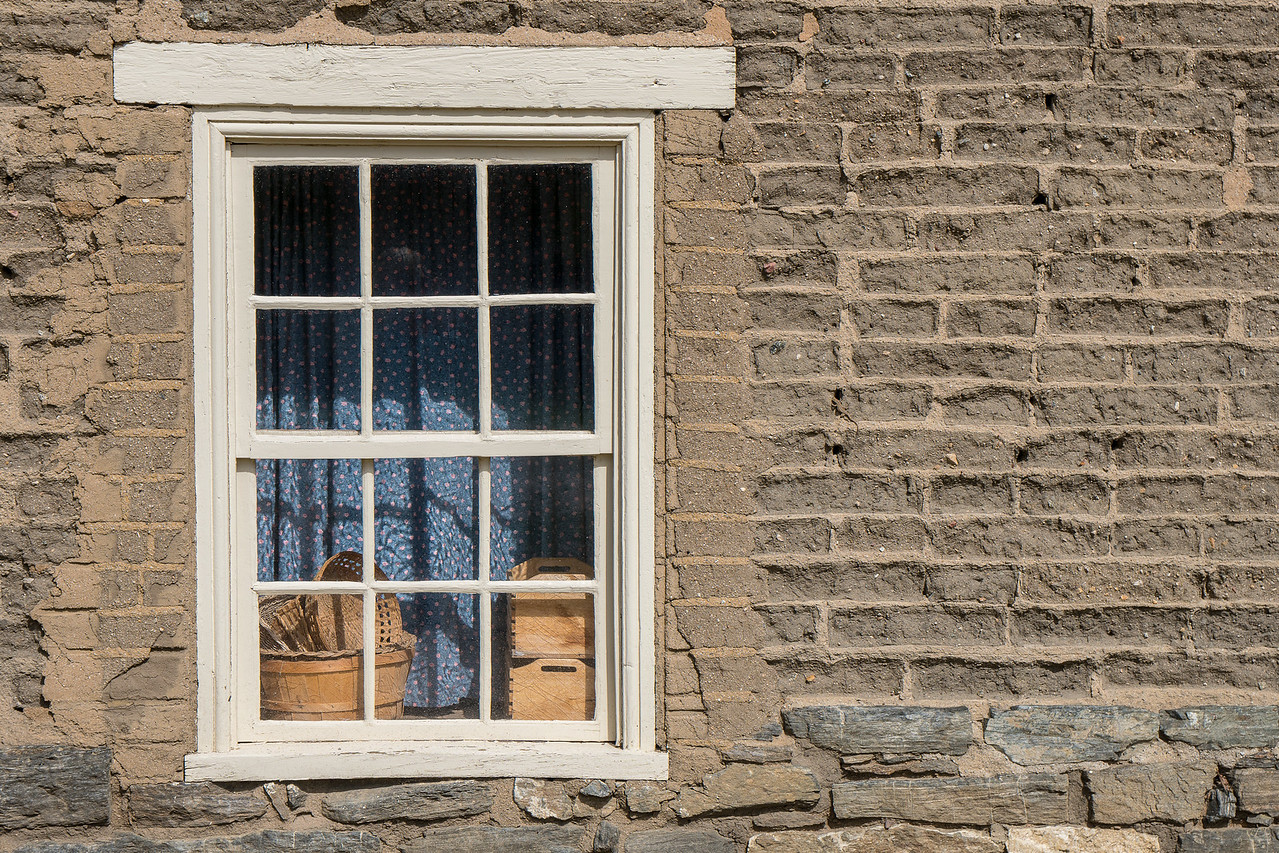 Window, the Enlisted Barracks at Fort Tejon