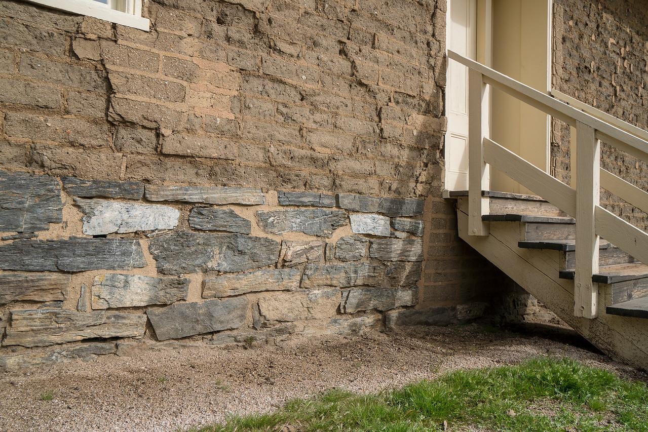 Detail of Enlisted Barracks foundation
