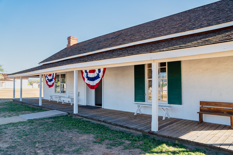 Restored Bachelors Quarters - Fort Verde Historic Park, Arizona