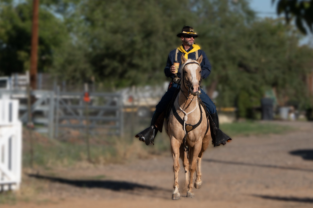 A lone rider enters Fort Verde!