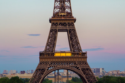 Paris: Eiffel Tower at Dusk