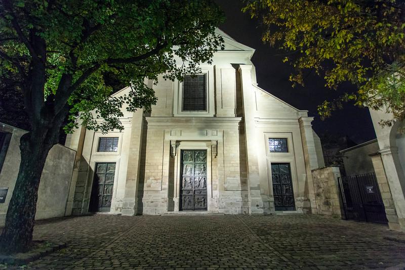 PARIS. CHURCH WHERE ALEXANDRES PARENTS MARRIED.