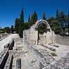 VAISON LA ROMAINE. ROMAN WC AND RUINS. RHONE.