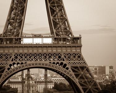 Paris: Eiffel Tower at Dusk