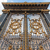 Ornate entrance gate of the Palais de Justice, a courthouse in Paris, France, Europe