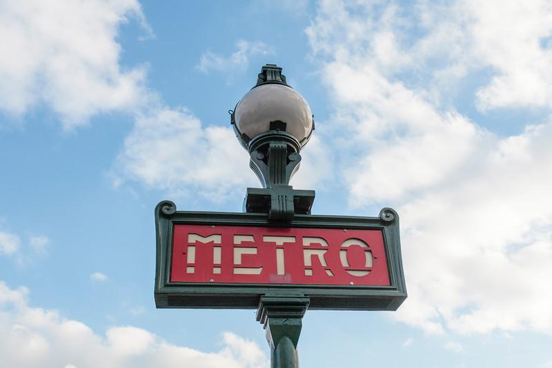 PARIS. METRO STATION SIGN. [2]
