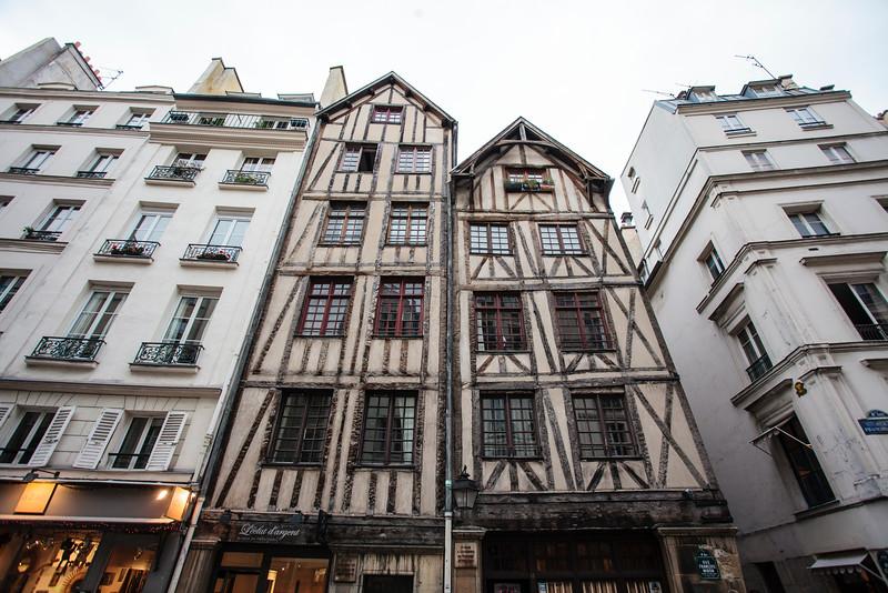 PARIS. MEDIEVAL HOUSES.